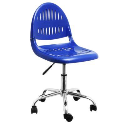 Silla de oficina operativa azul