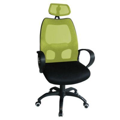 Silla de oficina ergonómica verde