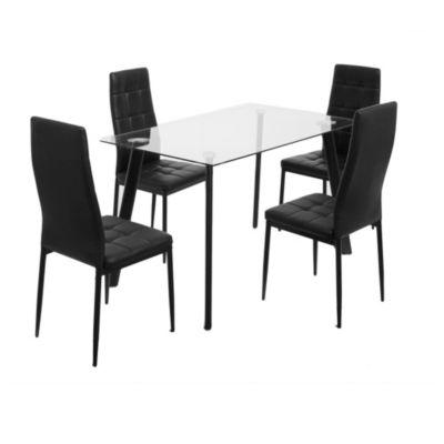 Comedor Socrates negro 4 sillas