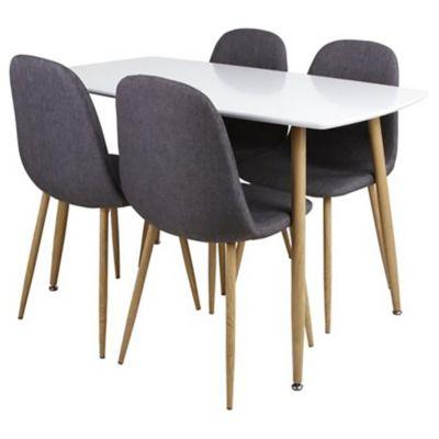 Set de comedor Scandia 4 sillas 120 x 70 x 75 cm