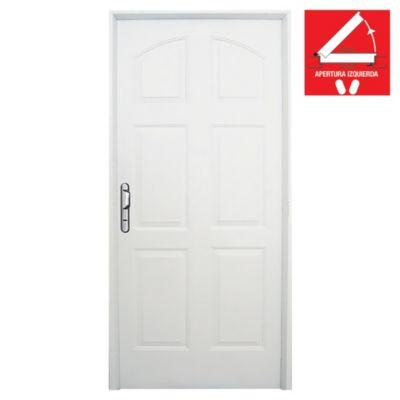 Puerta de chapa simple liviana 80 x 200 x 7 cm izquierda