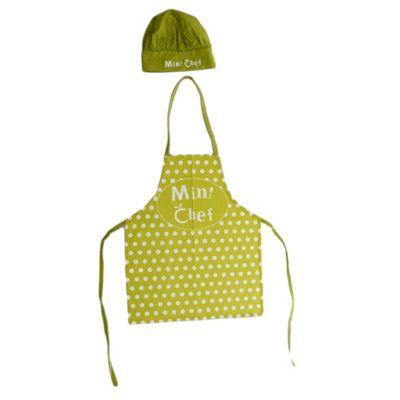 Set de delantal + gorro mini cheff hombre