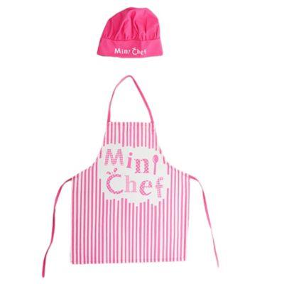 Set de delantal + gorro mini cheff mujer