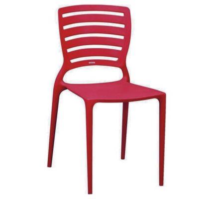 Silla sofía con respaldo horizontal rojo