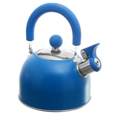 Pava acero inoxidable 1,5 l silbadora azul