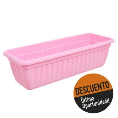 Jardinera Denise 45 cm rosa pastel