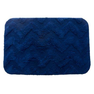 Alfombra zig-zag 40 x 60 cm azul