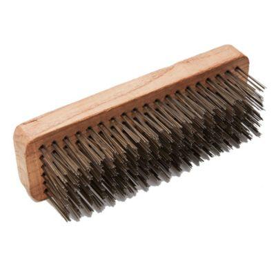 Cepillo parrillero acero 6 x 19 cm
