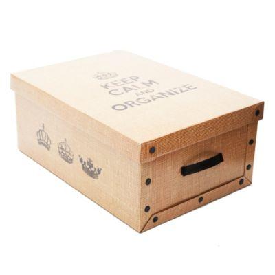Caja mediana arpillera 50 x 35 x 20 cm