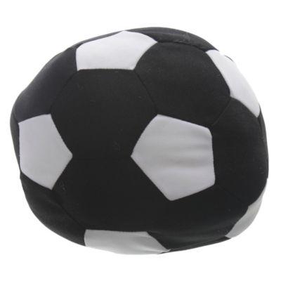 Almohadón 20 x 20 cm pelota negro/blanco