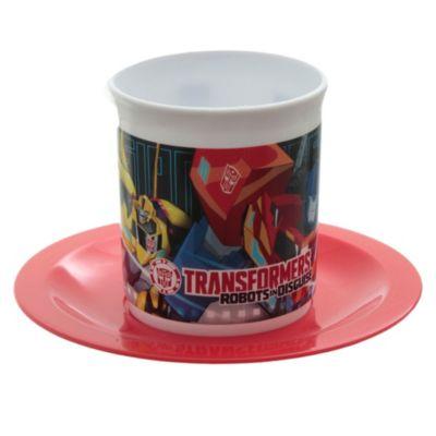 Set taza con plato Transformers