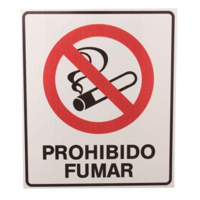 Cartel prohibido fumar 22 x 26 cm