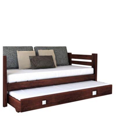 sof cama pac fico 2 plazas caoba con carro
