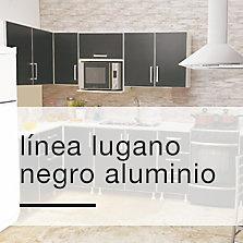 Línea Lugano Negro Aluminio