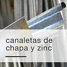 Canaletas de chapa y zinc