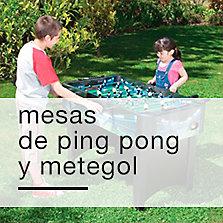 Mesas de ping pong y metegol