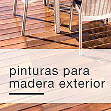 Pinturas para madera exterior