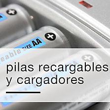Pilas recargables y cargadores