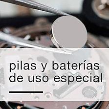 Pilas y baterías de uso especial