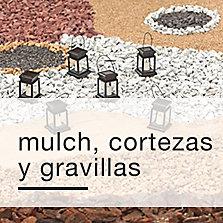 Mulch, cortezas y gravillas