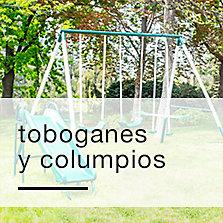 Toboganes y columpios