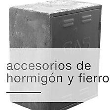 Accesorios de hormigón y fierro