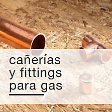 Cañerías y fittings para gas