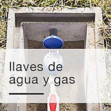 Llaves de agua y gas