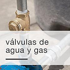 Válvulas de agua y gas