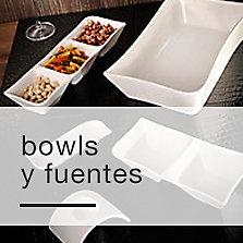 Bowls y fuentes