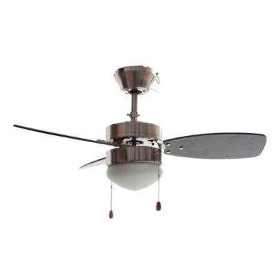 Ventilador 3 aspas 1 luz Sprite niquel