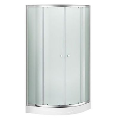Cabina de ducha curva esmerilada 90 x 90 cm