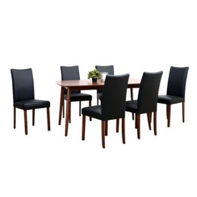 9f62501497b Set comedor Pazin mesa + 6 sillas negro
