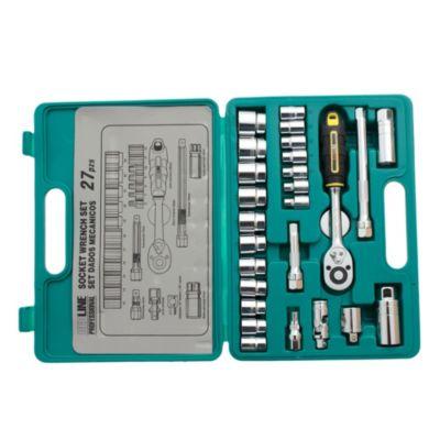 Kit de dados mecánicos 3/8 27 piezas