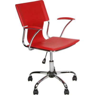 Silla de oficina ejecutiva regulable roja