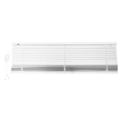 Cortina americana de PVC blanco 120 x 165 cm