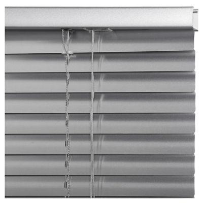 Persiana de aluminio Plata 120 x 250 cm
