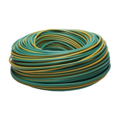 Cable unipolar 4 mm2 verde y amarillo 100 m