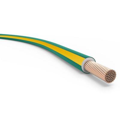 Cable unipolar 6 mm2 verde y amarillo 100 m