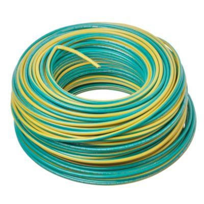 Cable unipolar 6 mm2 verde y amarillo 100 m