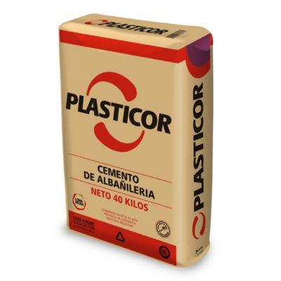 Cemento albañilería plasticor 40 kg
