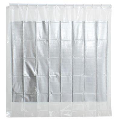 Cortina de baño de PVC gris
