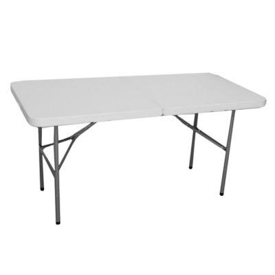 Mesa plegable de plástico y acero 152 cm