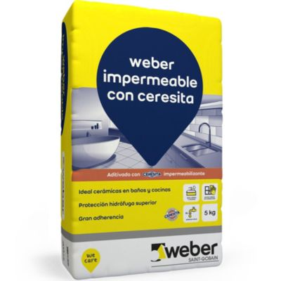 Adhesivo para cerámica impermeable 5 kg