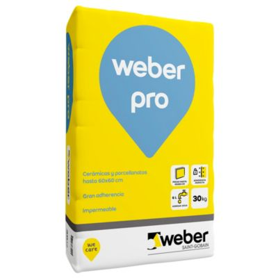 Adhesivo weber pro x30kg