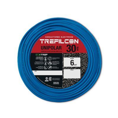 Cable unipolar 6 mm2 celeste 30 m