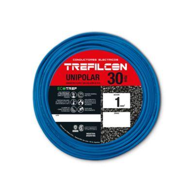 Cable unipolar 1 mm2 celeste 30 m