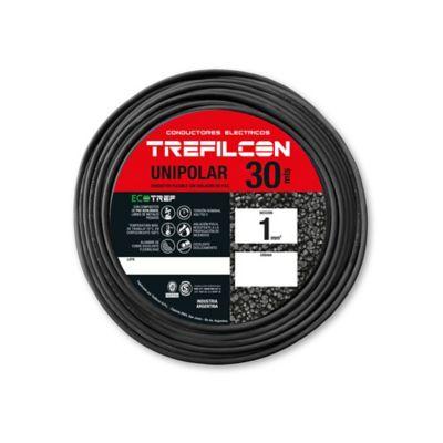 Cable unipolar 1 mm2 negro 30 m