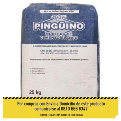 Cemento blanco pingüino 25 kg