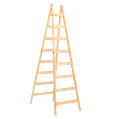Escalera recta madera 8 escalones